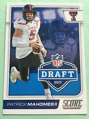 PATRICK MAHOMES 2017 Score Rookie Card RC NFL Draft Insert Card