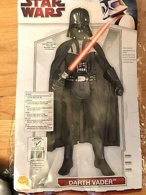 Star Wars Deluxe Darth Vader Halloween Costume #882014 Child Sz Medium 8-10  (Kids Darth Vader Costume)