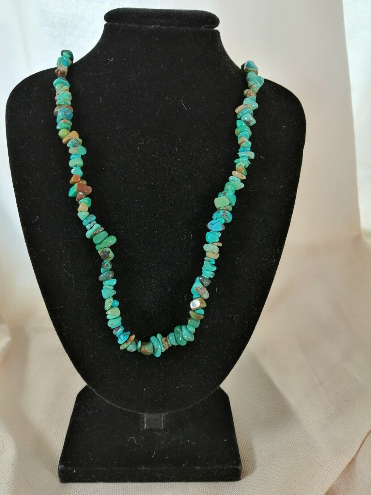 "Turquoise Chip Necklace 16"" to 34"", Long Necklace, Short Necklace"