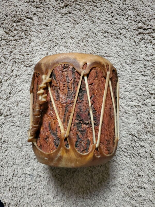 Cochiti Pueblo Indian Cottonwood Rawhide Drum