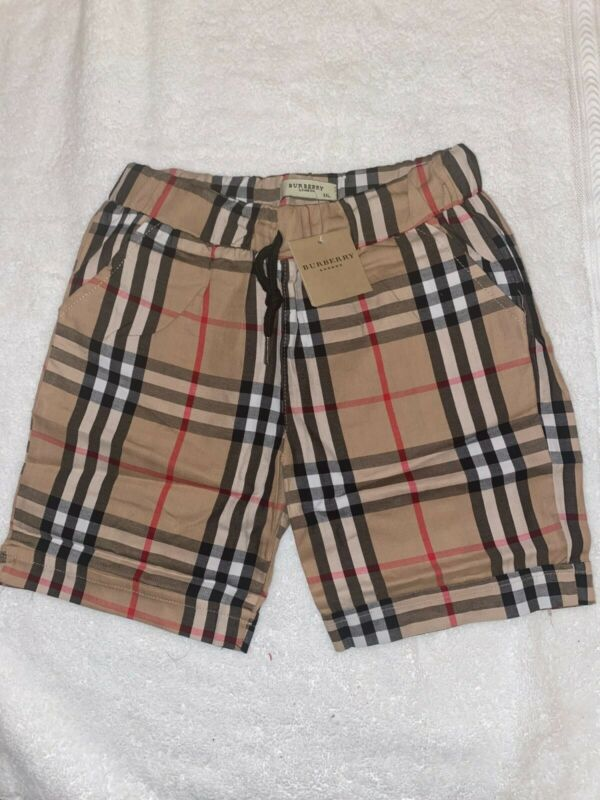 Burberry toddler shorts 100% cotton Elasticated drawcord waist