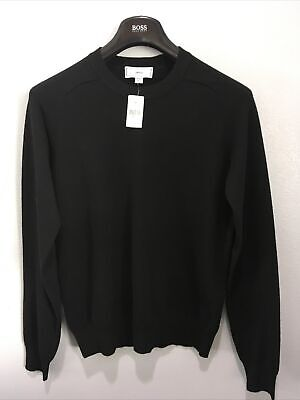 Ami Alexandre Mattiussi Mens Wool Sweater Black Sz M (nwd)