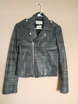 Eligent Each x Other Brand Women's Leather Black Color Jacket. Size S.