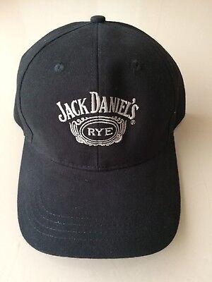 Jack Daniels Rye Brand Marquee Baseball Cap - Black See Pics Mint JD Whiskey  for sale  Huntington Beach