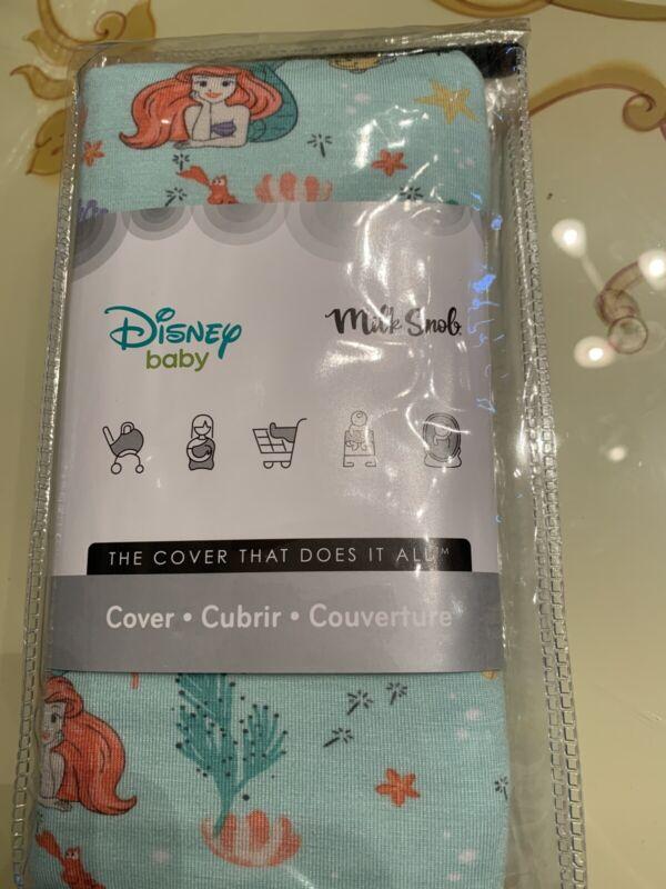 BNIB Milk Snob Disney The Little Mermaid Ariel Carseat Cover/nursing Cover Ocean