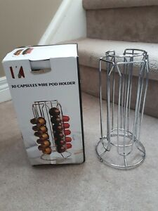 Wire Coffee Pod Holder for K Capsules - holds 30 pods
