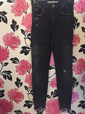 Zara Trafaluc Grey Skinny Jeans Size 10
