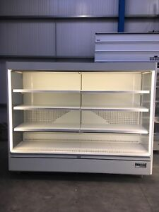 2.6m Capital Cooling Mars Display Fridge Chiller Multideck Meat Dairy Drink Shop