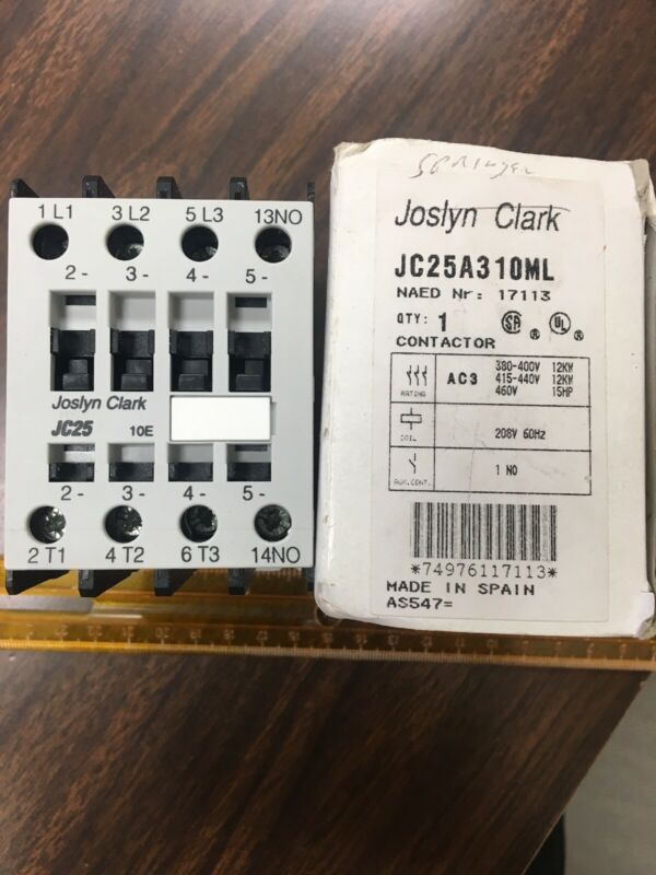 JOSLYN CLARK JC25A310ML Open Contactor 208V Springer Magnetic