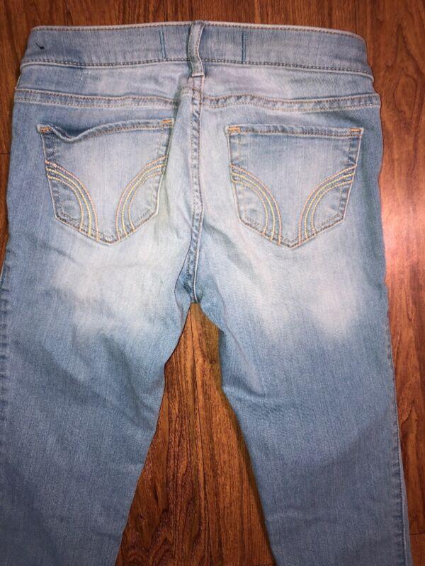 Girl's Hollister Size 1 R Jeans Light Wash 25W x 29L Stretch Skinny Leg