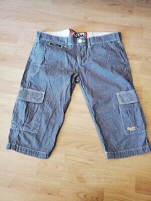 Real Superdry Striped Cargo Shorts - Spirit of Tokyo, Elect. & Carb Corp. - EUC