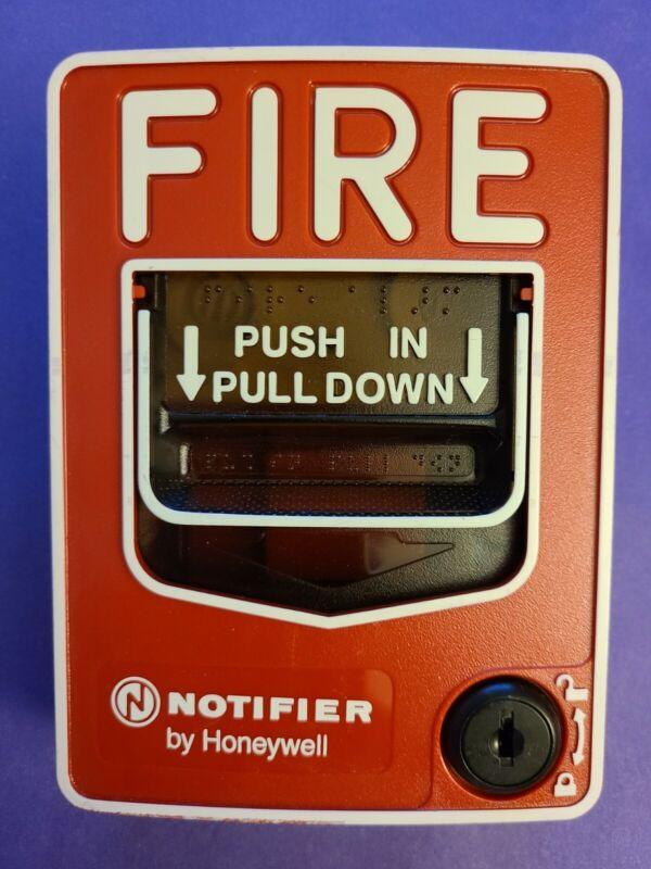 Notifier NBG-12LX Pull Station Fire Alarm Addressable Dual Action Honeywell