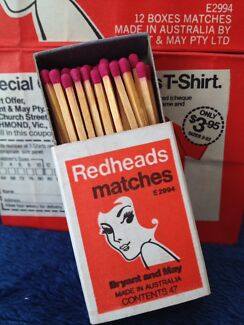 Vintage Collectable Redheads Matchbox