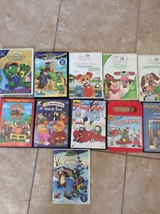 Collection of franklin, max and ruby, baby Einstein DVDs