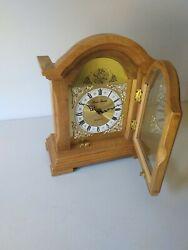 Daniel Dakota Tempus Fugit Quartz Mantle Clock Tested Real Oak Wood