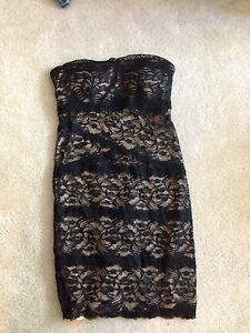 Bebe lace tube sexy dress xs