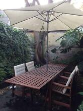 Outdoor dining table, chairs and parasol Paddington Eastern Suburbs Preview
