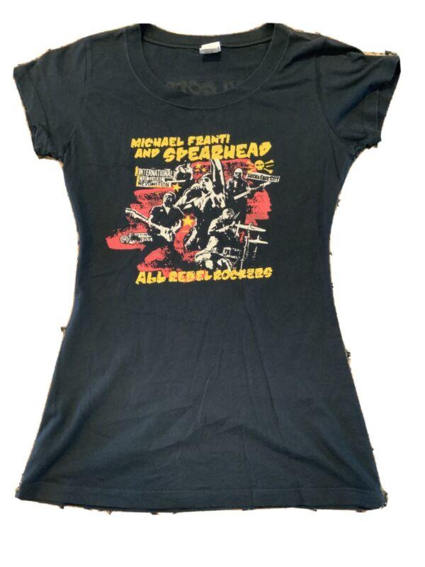 Michael Franti & Spearhead Girls Shirt M Medium Vintage Reggae Pop Rock Tee