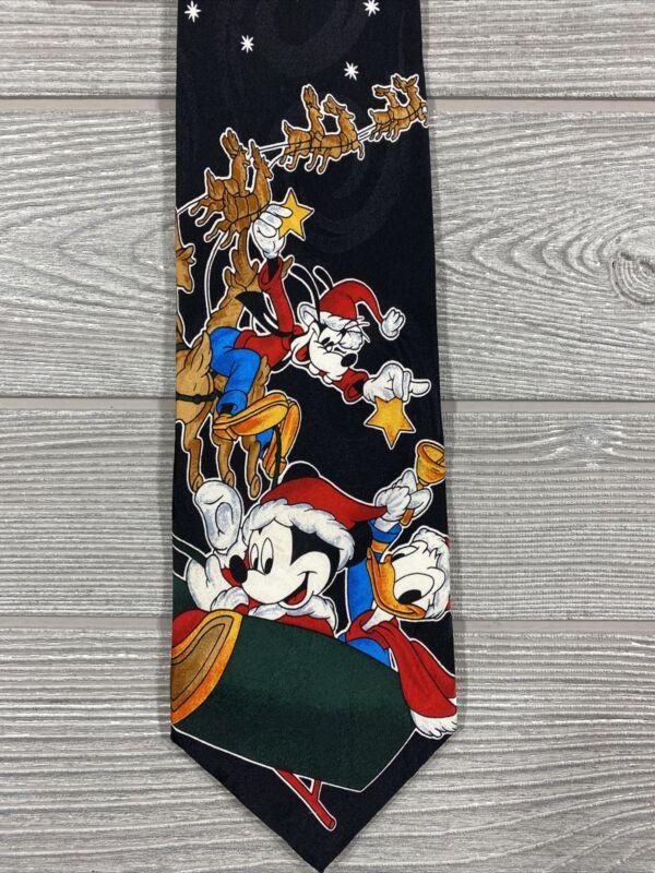 Vintage neck tie Disney Mickey Mouse Unlimited 100% silk  Christmas Disney mens