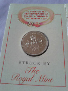 1989 £2 POUND COIN 1689-1989 Tercentenary of the Bill of Rights