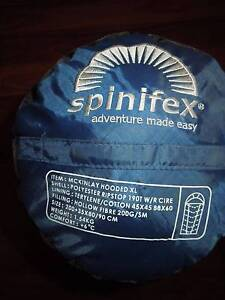 SPINIFEX SLEEPING BAG, HOODED, XL MCKINLEY BLUE & BLACK BRAND NEW Byford Serpentine Area Preview