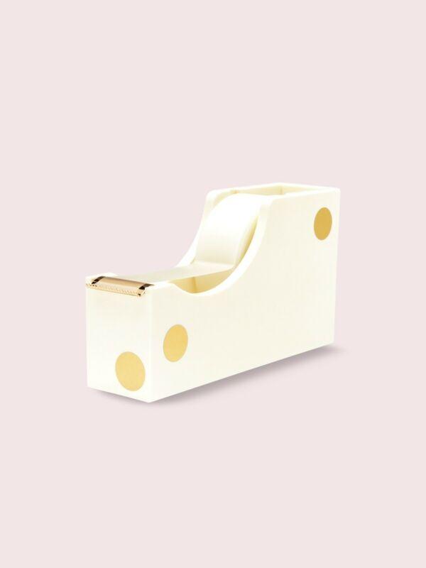 Kate Spade New York Gold Dot Acrylic Tape Dispenser - NIB