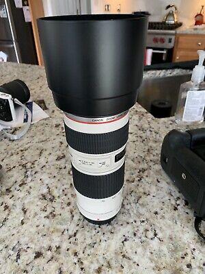 Canon EF 70-200mm f/4 L IS USM Lens, Hood