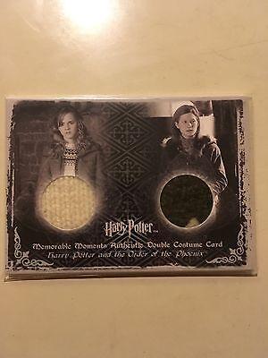 Harry Potter Hermione Granger Ginny Weasley Dual Costume 94/250 Emma Watson
