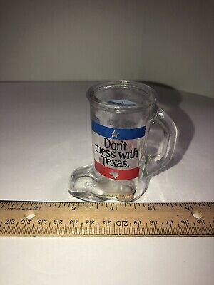 Don't Mess With Texas Boot Shaped Shot Glass With Handle EUC](Boot Shaped Shot Glass)