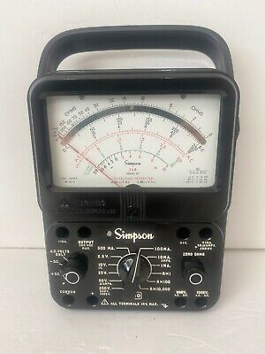 Simpson 260 Series 8 Volt Ohm Meter Very Rare. Perfect Condition