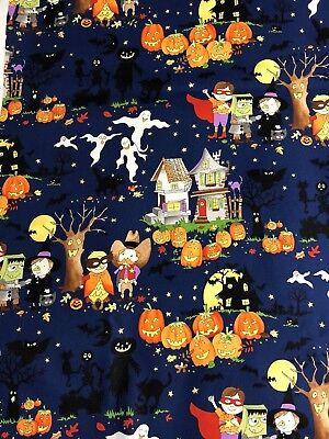 2011 Alexander Henry Halloween Booville Haunted House Kids Costumes Fabric BTHY](Halloween Haunted Child)