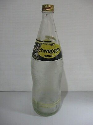SCHWEPPES 900ML GLASS BOTTLE WITH SOME PAPER LABEL & CAP EMPTY