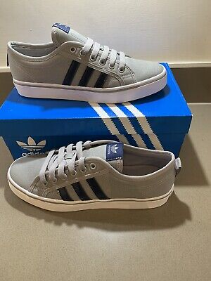 Adidas Nizza Low Size 8 Men's trainers. Grey, BNIBWT RRP of £59.95 🔥