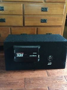 """Dual 12"""" MTX Subwoofer With Amp"""