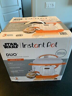 Williams Sonoma Star Wars 3 qt Instant Pot BB-8  - NEW IN BOX - SHIPS TODAY