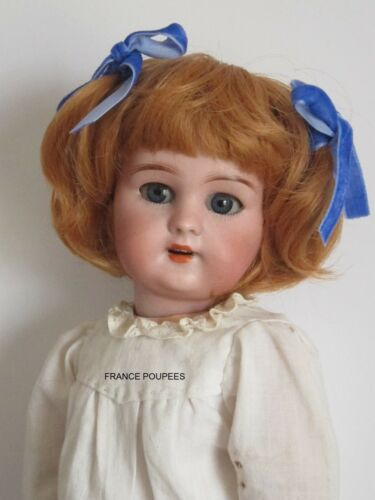 """perruque Rousse courte-Tête20cm-poupée ancienne-moderne-Doll wig head sz8"""""""