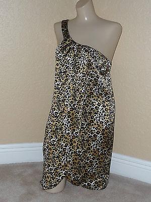 NWT LACEY PARKER Sz M Silk Leopard print One shoulder Tarzan Jane Ret.$285 Toga](Tarzan Dress)
