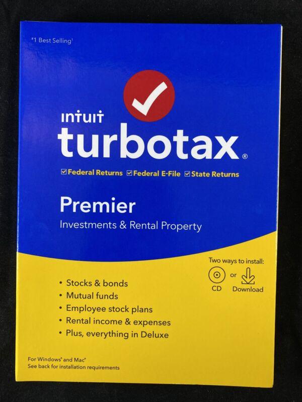 TurboTax Premier 2019 - Investments & Rental Property - Windows & Mac CD