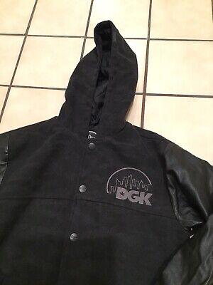 DGK Dirty Ghetto Kids Stevie Williams Wool Faux Leather Varsity Letterman Jacket