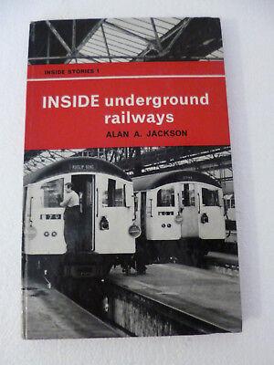 COLLECTABLE RAILWAY BOOK INSIDE UNDERGROUND RAILWAYS H/B