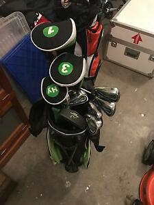 Woodworm Zoom Brand Mens Left Handed Clubs and Bag Williamstown Hobsons Bay Area Preview