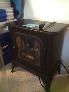 Cast iron electric fireplace