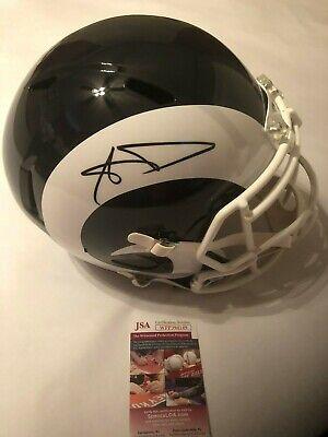 512873790 Aaron Donald Autographed Full Size Los Angeles Rams Speed Helmet JSA  Witness COA