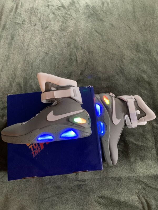 Custom Back To The Future Shoes By Universal - Nike Mags With Decals
