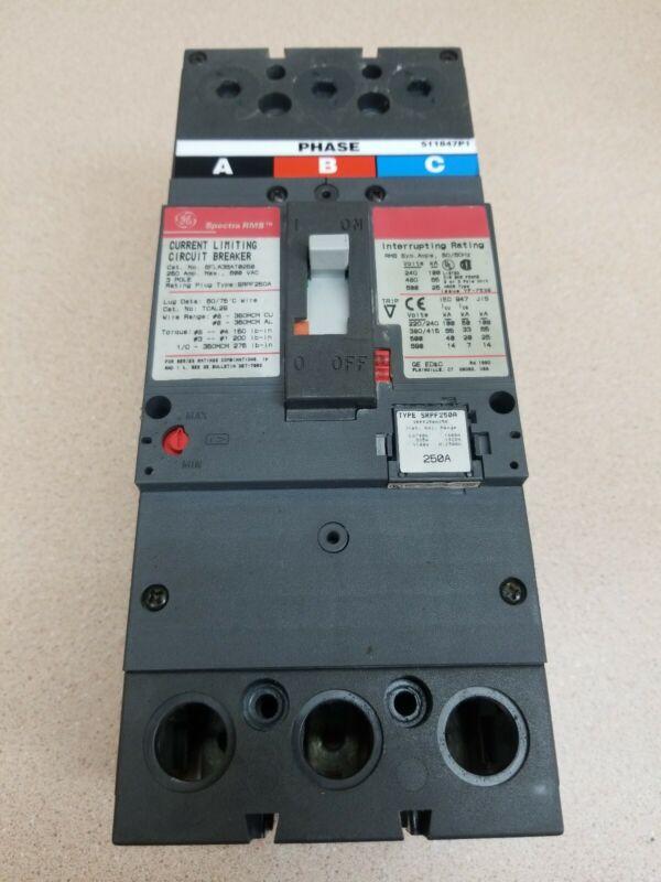 GE SFLA SFLA36AT0250 3 pole 600v 250 amp Circuit Breaker Flawed