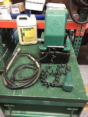 Greenlee 975 10000-psi 120vac Hydraulic Power Pump With Remote Hydrolic Hose