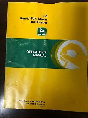 John Deere Manual 84 Round Bale Mover Feeder Ome78010