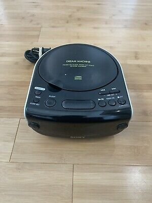 Sony Dream Machine ICF-CD815 FM/AM CD Clock Radio CD-R/RW Playback Alarm Buzzer