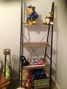 shelve unit wood and metal Macquarie Links Campbelltown Area Preview