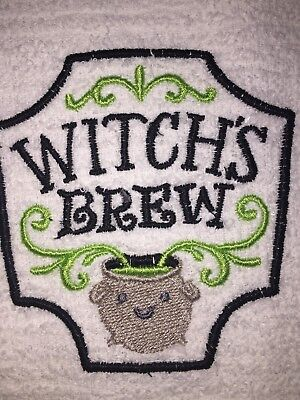 Embroidered Kitchen Bar Hand Towel BS0705 Witch's Brew- Halloween Theme - Halloween Bar Themes